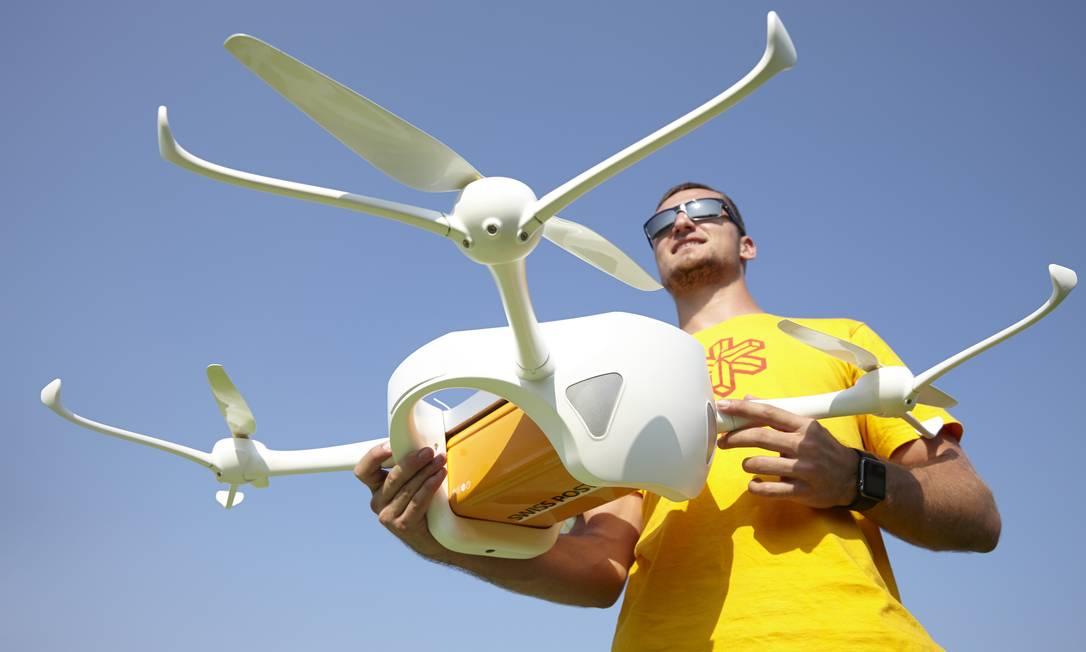Drone Matternet ONE em testes pelo Swiss Post Foto: Yoshiko Kusano / Divulgação