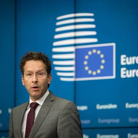 Jeroen Dijsselbloem, presidente do Eurogrupo Foto: Jasper Juinen / Bloomberg