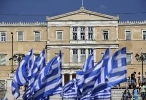Edifício do Parlamento grego, na Praça Syntagma Foto: Matthew Lloyd / Bloomberg