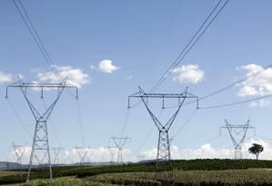 Torres de transmissão de energia elétrica Foto: PAULO WHITAKER / REUTERS