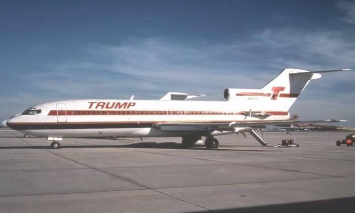 Avião da Trump Airlines, que existiu de 1988 a 1992 Foto: Reprodução