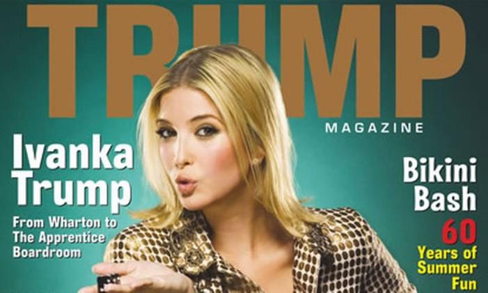 A filha de Donald, Ivanka, estampa a capa da revista do pai Foto: Reprodução