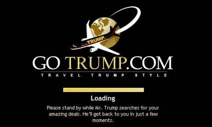 Página da GoTrump.com Foto: Reprodução