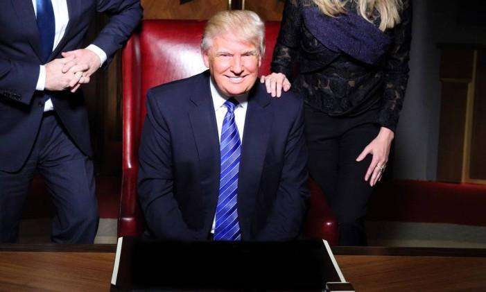 Donald Trump no estúdio do programa Foto: Douglas Gorenstein / Divulgação / NBC