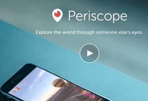 Por dia, 40 anos de conteúdo são assistidos na plataforma de streaming do Twitter Foto: Divulgação/Periscope