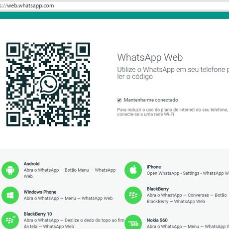 WhatsApp Web: agora disponível para usuários de iPhone Foto: Reprodução