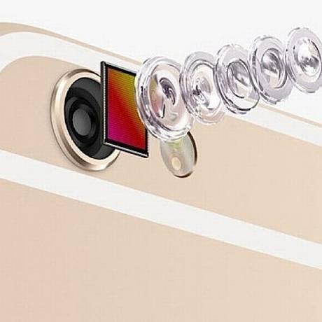 Esquema mostrando montagem da lente da câmera de um iPhone Foto: Divulgação