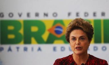 A presidente Dilma Rousseff Foto: Ailton de Freitas / Agência O Globo