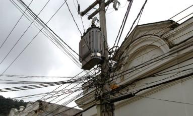 Linhas de energia em Botafogo, no Rio de Janeiro Foto: Andre Vierira / Bloomberg News