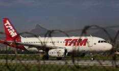 Avião da TAM no Santos Dumont Foto: Dado Galdieri / Bloomberg