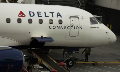 Avião da Delta Air Lines Foto: Victor J. Blue / Bloomberg