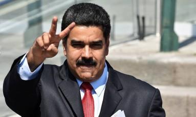 Nicolás Maduro, presidente da Venezuela, em Quito, para reunião da Celac Foto: Cris Bouroncle / AFP