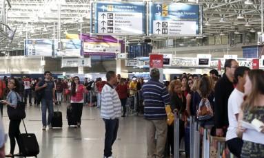 Aeroporto do Galeão, no Rio de Janeiro Foto: Hudson Pontes / Agência O Globo