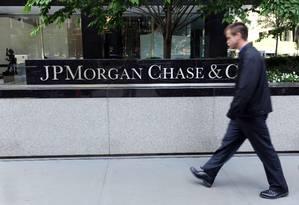 Prédio do JPMorgan em Nova York Foto: Stan Honda / AFP