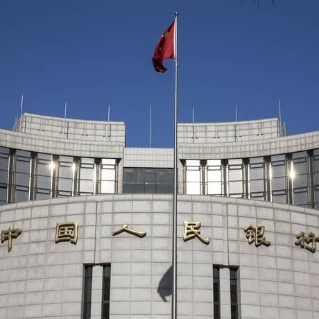 Sede do Banco Central da China, em Pequim Foto: Qilai Shen / Bloomberg