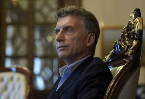 Mauricio Macri, presidente da Argentina Foto: Juan Mabromata / AFP