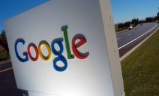 Letreiro na sede da Google, em Mountain View, Califórnia, EUA Foto: Erin Lubin / Bloomberg News