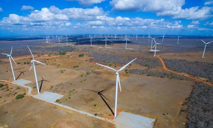 Parque eólico no Rio Grande do Norte, que pertence à Brookfield. Veio no pacote dos ativos de energia comprados da Energisa por R$ 1,4 bilhão, em 2014 Foto: Divulgação