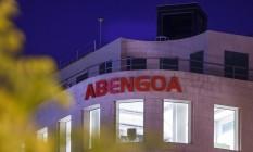 Letreiro da Abengoa na sede em Madri Foto: Angel Navarrete / Bloomberg