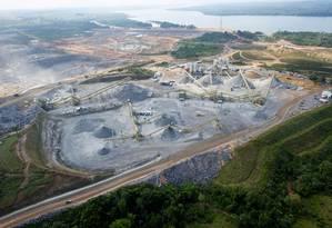 Canteiro de obras da Usina de Belo Monte Foto: Regina Santos / Divulgação