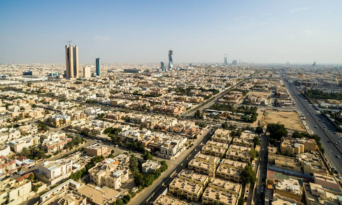 Vista aérea de Riad, Arábia Saudita Foto: Waseem Obaidi / Bloomberg