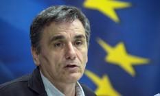 Ministro das Finanças da Grécia, Euclid Tsakalotos Foto: Yorgos Karahalis / Bloomberg