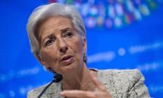 Christine Lagarde, diretora-gerente do FMI Foto: Andrew Harrer / Bloomberg