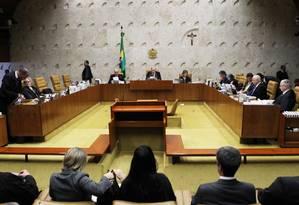 Plenário do STF. Ministros avaliam mudança de cálculo na dívida estaduais Foto: Jorge William / Agência O Globo