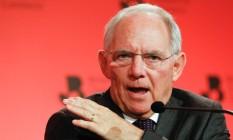 Wolfgang Schaeuble, ministro das Finanças da Alemanha Foto: Luke MacGregor / Bloomberg
