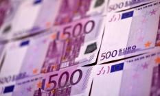 Nota de € 500: BCE anuncia fim da emissão Foto: Miguel Medina / AFP