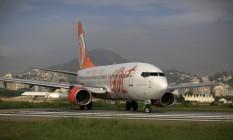 Avião da Gol no pátio do aeroporto Santos Dumont, no Rio de Janeiro Foto: Dado Galdieri / Bloomberg
