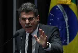 Romero Jucá, novo ministro do Planejamento no governo Temer Foto: André Coelho / Agência O Globo