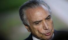 O presidente interino Michel Temer Foto: Agência O Globo