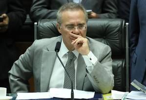 Renan Calheiros, presidente do Senado Foto: Jorge William / Agência O Globo