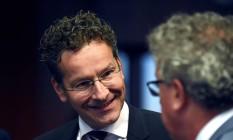 Presidente do Eurogrupo e ministro das Finanças da Holanda, Jeroen Dijsselbloem Foto: John Thys / AFP