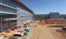 Obras no aeroporto de Viracopos em Campinas: área lateral do aeroporto Foto: Michel Filho / Agência O Globo