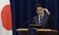Shinzo Abe, primeiro-ministro do Japão Foto: Kiyoshi Ota / Bloomberg