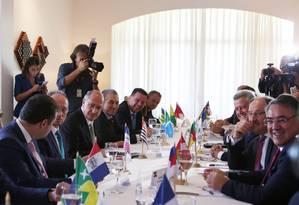 Governadores e equipe econômica se reúnem para discutir as dívidas estaduais Foto: Michel Filho / O Globo