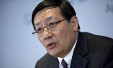Lou Jiwei, ministro das Finanças da China Foto: Andrew Harrer / Bloomberg