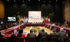 Reunião dos membros do Mercosul em dezembro, em Luque, Paraguai Foto: Jorge Saenz / AP
