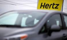 Hertz: empresa de aluguel de veículos Foto: Luke Sharrett / Bloomberg