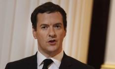 George Osborne, ministro das Finanças do Reino Unido Foto: Luke MacGregor / Bloomberg