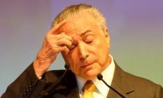 O presidente em exercício, Michel Temer Foto: Pedro Kirilos / Agência O Globo