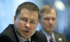 Valdis Dombrovskis, vice-presidente da Comissão Europeia Foto: Scott Eells / Bloomberg