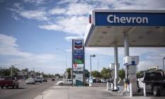 Posto de gasolina da Chevron em Albuquerque, Novo México, Estados Unidos Foto: Sergio Flores / Bloomberg
