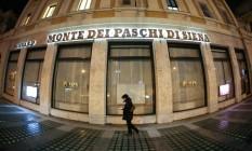 Agência do Monte dei Paschi di Siena em Roma Foto: Alessia Pierdomenico / Bloomberg