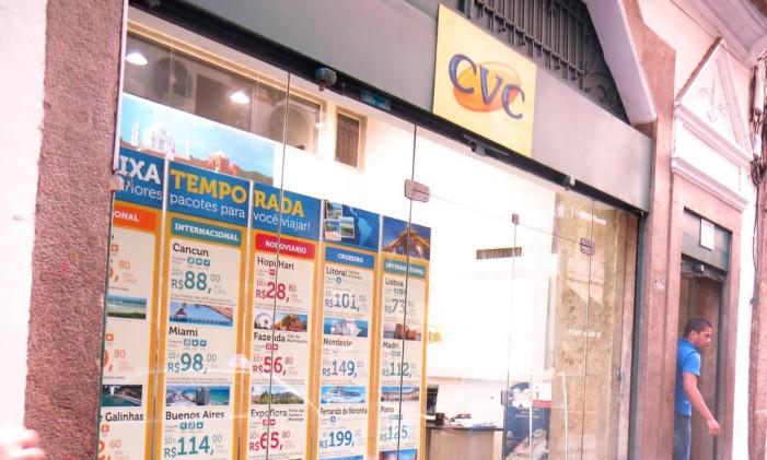Fachada da CVC no Rio Foto: Luísa Lucciola / Agência O Globo