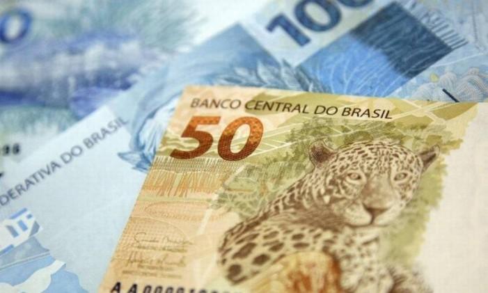 Notas de R$ 100 e R$ 50 Foto: