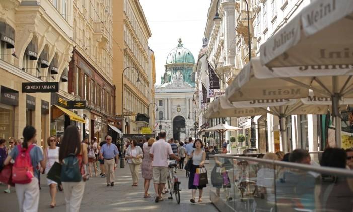 Região de Kohlmarkt em Viena Foto: Lisi Niesner / Bloomberg