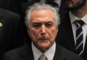 O presidente Michel Temer Foto: Ailton de Freitas/Agência O Globo
